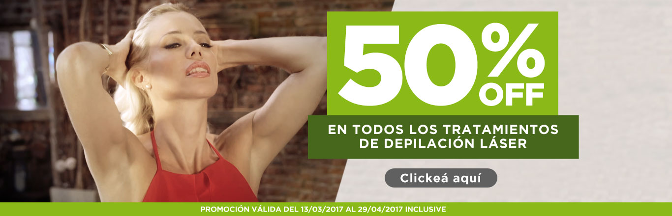 50% OFF en Depilacion definitiva